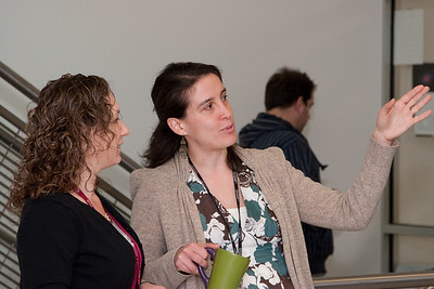 Cathy Bailey and Dimitra Koutroumpa -- March 2011 new staff welcome coffee, Astrophysics Science Division, NASA/ Goddard Space Flight Center