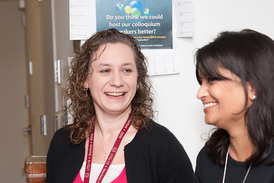Cathy Bailey and Raksha Kapil --March 2011 new staff welcome coffee, Astrophysics Science Division, NASA/ Goddard Space Flight Center