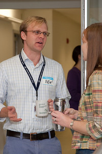 Mike McElwain and Amber Straughn -- March 2011 new staff welcome coffee, Astrophysics Science Division, NASA/ Goddard Space Flight Center