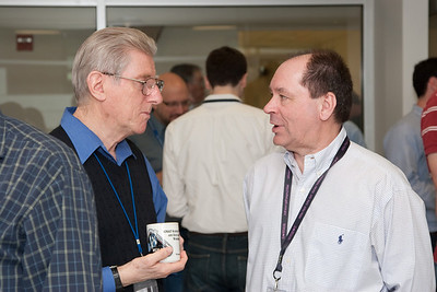 Bruce Woodgate and Jeff Kruk -- March 2011 new staff welcome coffee, Astrophysics Science Division, NASA/ Goddard Space Flight Center