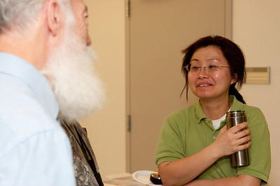 Bill Daniels and Seunghee Son -- March 2011 new staff welcome coffee, Astrophysics Science Division, NASA/ Goddard Space Flight Center