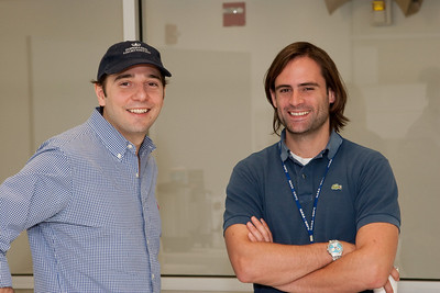 Geronimo Villanueva and ___ -- March 2011 new staff welcome coffee, Astrophysics Science Division, NASA/ Goddard Space Flight Center
