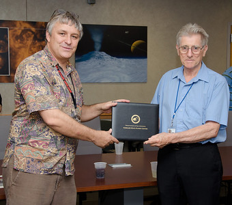 Lab Chief of Exoplanets and Stellar Astrophysics Karl Stapelfeldt with Bruce -- Bruce Woodgate retirement party, NASA/GSFC, June 2013