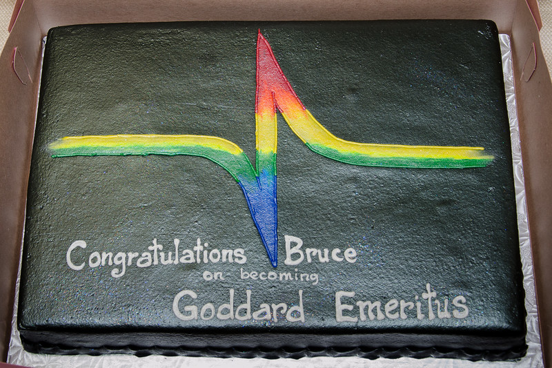 cake -- Bruce Woodgate retirement party, NASA/GSFC, June 2013