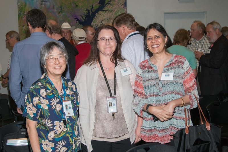 Eunice Eng, Teresa Sheets, and Anju Basu -- CGRO (Compton Gamma Ray Observatory) 25th Anniversary of launch party at NASA/Goddard Space Flight Center, Greenbelt, MD, June 2016