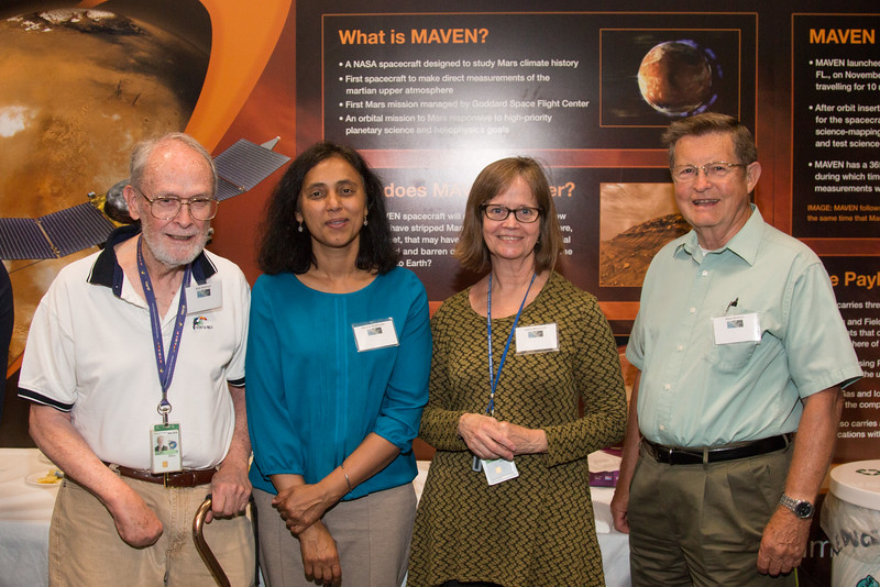 Bob Hartman, Reshmi Mukherjee, Laura McDonald, Dave Bertsch -- CGRO (Compton Gamma Ray Observatory) 25th Anniversary of launch party at NASA/Goddard Space Flight Center, Greenbelt, MD, June 2016