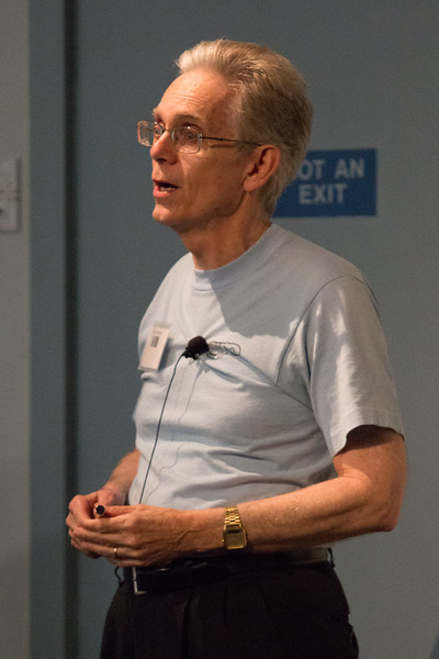 Dave Thompson (GSFC) speaks about the EGRET Legacy -- CGRO (Compton Gamma Ray Observatory) 25th Anniversary of launch party at NASA/Goddard Space Flight Center, Greenbelt, MD, June 2016