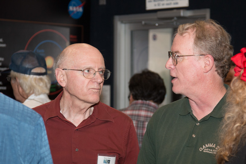 Gerry Share (NRL/OSSE) and Tom Bridgman (GSFC) -- CGRO (Compton Gamma Ray Observatory) 25th Anniversary of launch party at NASA/Goddard Space Flight Center, Greenbelt, MD, June 2016