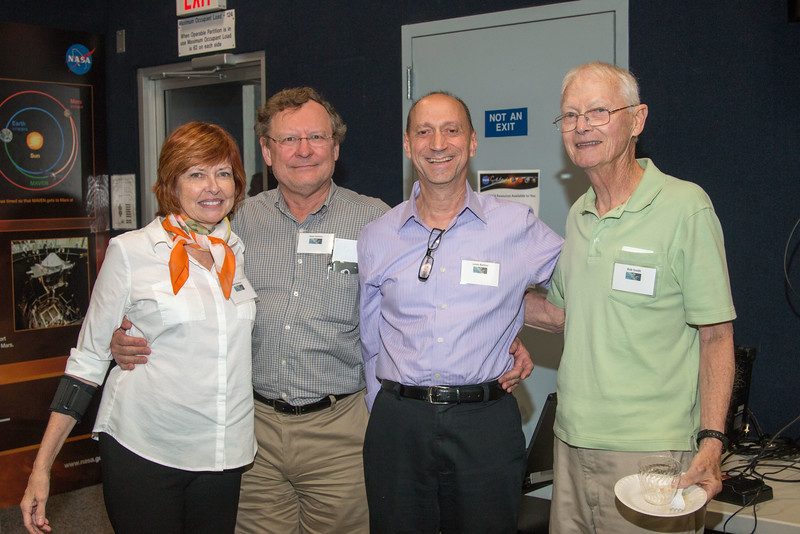 Beth Barbier, Stan Hunter, Louis Barbier. Bob Smith -- CGRO (Compton Gamma Ray Observatory) 25th Anniversary of launch party at NASA/Goddard Space Flight Center, Greenbelt, MD, June 2016