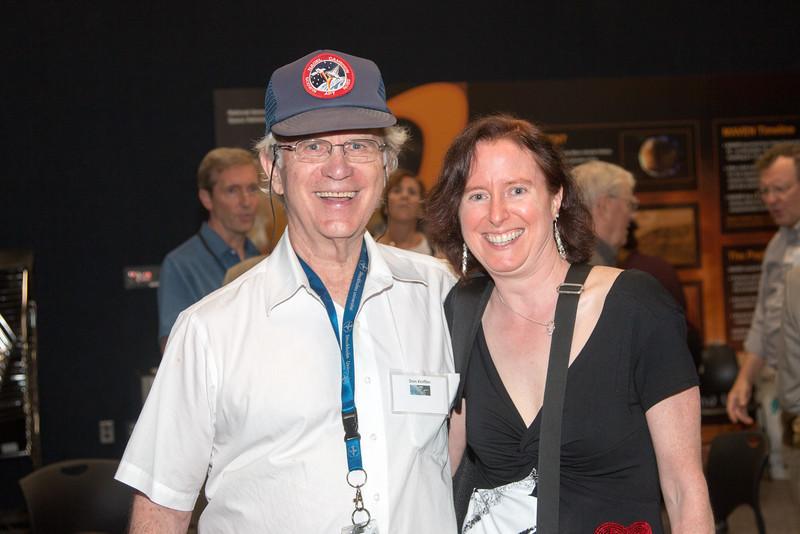 Don Kniffen (GSFC) and ELizabeth Ferrara (GSFC/Fermi) --CGRO (Compton Gamma Ray Observatory) 25th Anniversary of launch party at NASA/Goddard Space Flight Center, Greenbelt, MD, June 2016