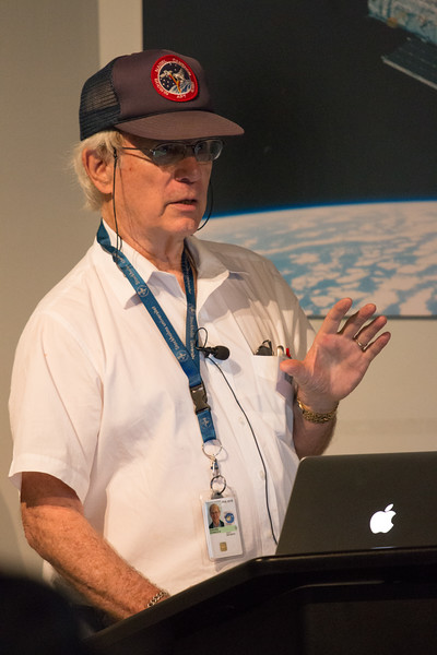Don Kniffen, Project Scientist through launch -- CGRO (Compton Gamma Ray Observatory) 25th Anniversary of launch party at NASA/Goddard Space Flight Center, Greenbelt, MD, June 2016