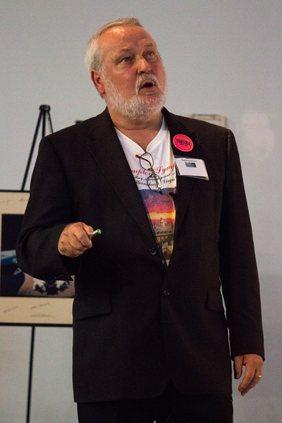 DIeter Hartmann (Clemson) speaks about the CGRO Science Legacy -- CGRO (Compton Gamma Ray Observatory) 25th Anniversary of launch party at NASA/Goddard Space Flight Center, Greenbelt, MD, June 2016