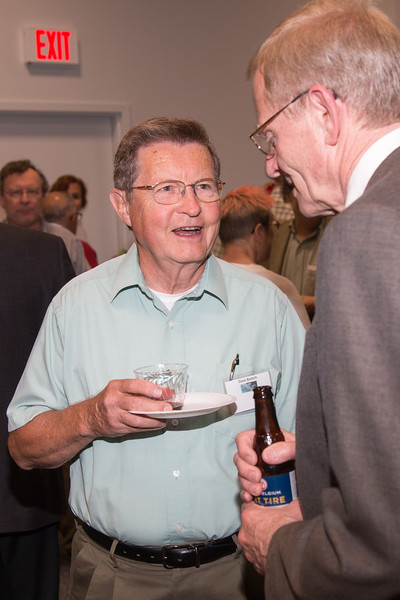 Dave Bertsch with Gottfried Kanbach -- CGRO (Compton Gamma Ray Observatory) 25th Anniversary of launch party at NASA/Goddard Space Flight Center, Greenbelt, MD, June 2016