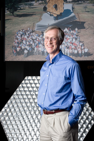 From a 2009 photo shoot for Astronomy Magazine:  Dr. John Mather, Senior Project Scientist, James Webb Space Telescope, NASA/Goddard Space Flight Center, 2006 Nobel Laureate in Physics (This was an alternate photo, not used.)