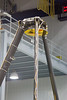 secondary mirror closeup -- James Webb Space Telescope -- the uncovering of the assembled primary mirror was completed today (April 26, 2016), Bldg 29 cleanroom, NASA/Goddard Space Flight Center