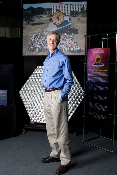 From a 2009 photo shoot for Astronomy Magazine: Dr. John Mather, Senior Project Scientist, James Webb Space Telescope, NASA/Goddard Space Flight Center, 2006 Nobel Laureate in Physics