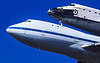 Space Shuttle Endeavor and Boeing 747 Jumbo close-up