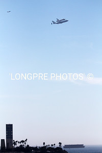 ENDEAVOR flying over Long Beach oil islands  Sept. 21, 2012