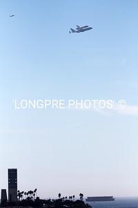 ENDEAVOR flying over Long Beach oil islands  Sept. 21, 2012