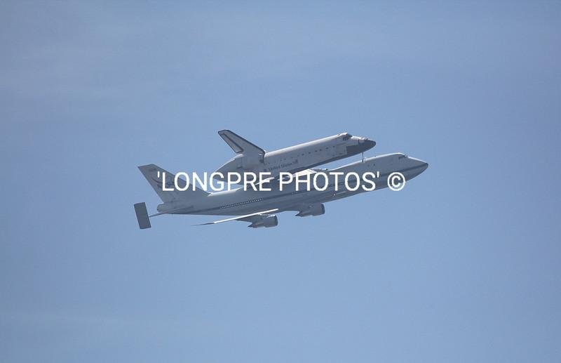Piggy back ride on 747.  ENDEAVOUR  shuttle.