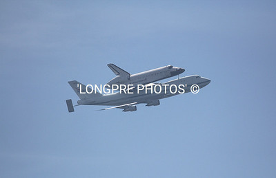 Piggy back ride on 747.  ENDEAVOUR  shuttle.