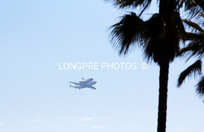 ENDEAVOUR arriving in Long Beach area on back of '747'.  Sept. 22, 2012 Headed to LAX landing and to live now in Space Museum in Los Angels