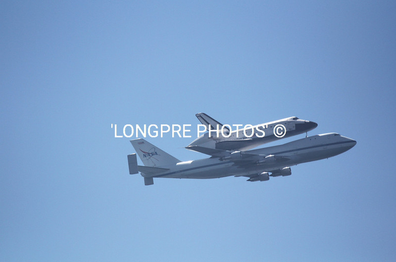 ENDEAVOUR flying over Long Beach, CA