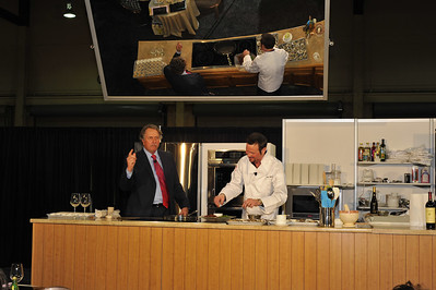 Photographs of Celebrity Chef Kitchen at NATPE 2009 in Mandalay Bay Convention Center in Las Vegas, Nevada. LG Electronics and Wholefoods are direct sponsors of Celebrity Chef Kitchen.
