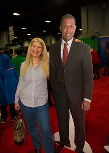 Connie from the Distric poses with NBC4's Aaron Gilchrist. Connie watches NBC4 News every morning and Aaron is one of her favorites.