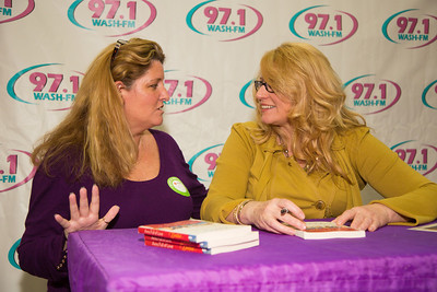 Popular radio personality Delilah (right) poses with fan Cathy Daum of Sterling VA.