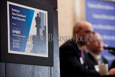 """The Nashville Business Journal's """"Banking's New Chessboard"""" panel discussion. The discussion was sponsored by KPMG at Loews Vanderbilt Hotel Nashville. Nathan Morgan 
