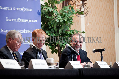 """Thursday during the Nashville Business Journal's """"Banking's New Chessboard"""" panel discussion. The discussion was sponsored by KPMG at Loews Vanderbilt Hotel Nashville. Nathan Morgan 