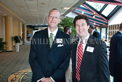 Rick Seadler and Caleb Graves at the Nashville Business Journal's Health Care Heroes celebration luncheon.