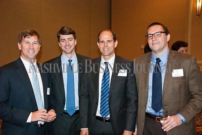 Jonathan Skeeters, Scott Lenz, Kevin Campbell, and David Stempel at the Nashville Business Journal's Health Care Heroes celebration luncheon.
