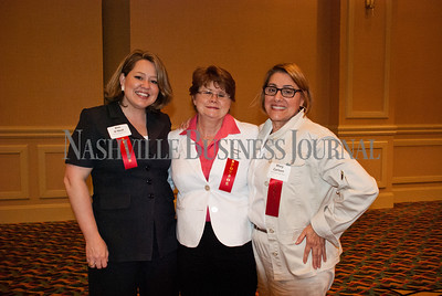 Kim O'Neal, left to right Martha Moss, and Mary Carlson at the Nashville Business Journal's Health Care Heroes celebration luncheon.