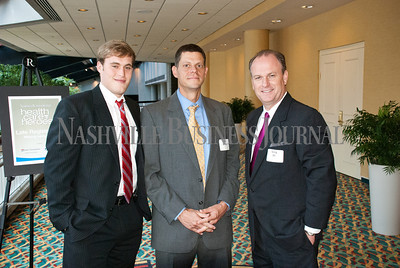 Marshall Ussery, left to right, with Tim Shelly, and Greg Eli at Nashville Business Journal's Health Care Heroes celebration luncheon.