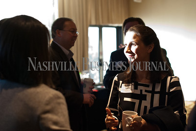 Rebecca Leslie of the Nashville Area Chamber of Commerce talks during the networking section of the event.