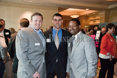 Chris Robinette, left to right, with Jared Wilson, and James Horton representing Captial Financial Group.