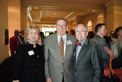 Rhonda Lowry, left to right, Dr. Randy Lowry of Lipscomb University with Ron Samuels of Avenue Bank