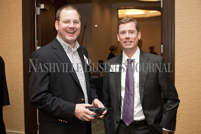 Sid Chambliss and Dudley Baker pose Thursday during the Nashville Business Journal's Entrepreneur Exchange presented by Bone McAllister Norton at the Renaissance Nashville Hotel. Nathan Morgan | Nashville Business Journal