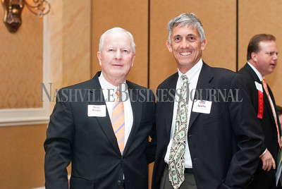 Berry Brooks of First Farmers and Merchants Bank, left, with Mike Sparta of Crossling & Associates.