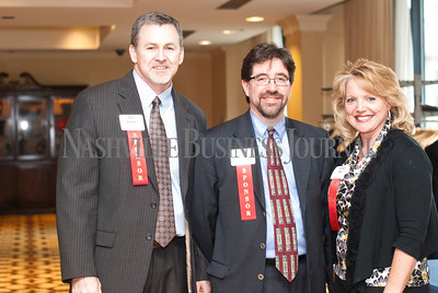 Sponsors Tim Sturm, left to right, Bruce Beck, and Leisa Gill all of LBMC.