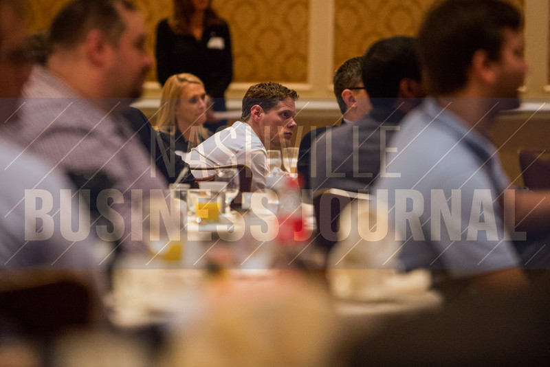 "Guests listen to the discussion during The ""New Normal"": Dealing with Healthcare's New Cyber Threat Profile breakfast panel at the Loews Vanderbilt Hotel."