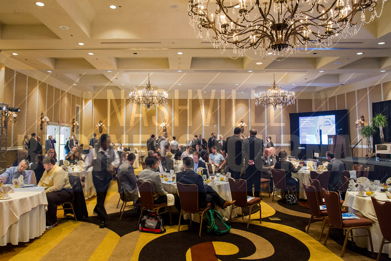 "Guests take their seats before The ""New Normal"": Dealing with Healthcare's New Cyber Threat Profile breakfast panel at the Loews Vanderbilt Hotel."