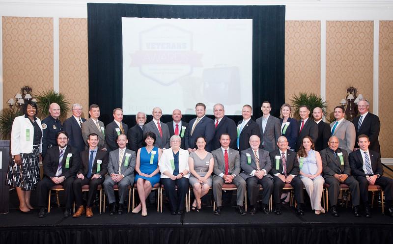 The Nashville Business Journal's first annual Veterans Awards class of 2015.