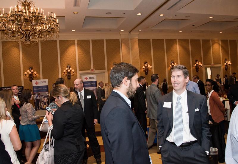 Guest network during the Nashville Business Journal's first annual Veterans Awards luncheon at Loews Vanderbilt.