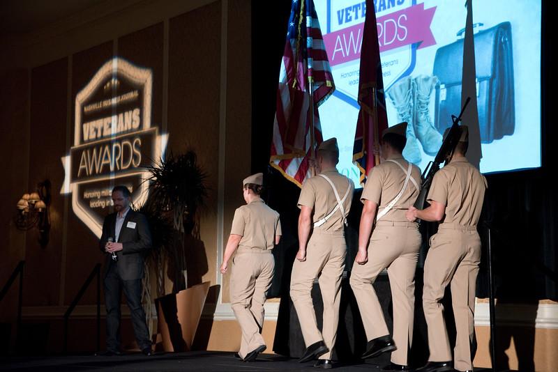 during the Nashville Business Journal's first annual Veterans Awards luncheon at Loews Vanderbilt.
