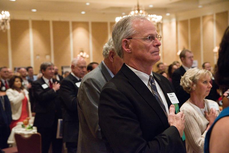 Douglas Kreulen of the Metropolitan Nashville Airport Authority stands during the Nashville Business Journal's first annual Veterans Awards luncheon at Loews Vanderbilt.