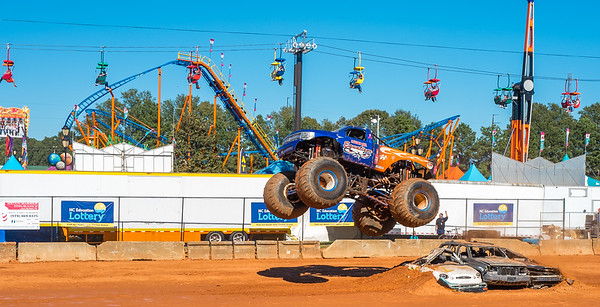 Monster Truck Destruction Derby at NC State Fair 2016