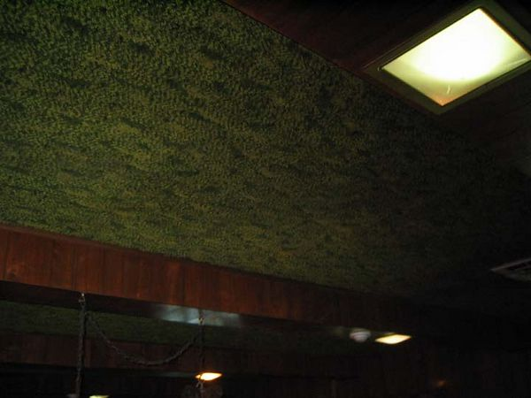 Carpet on the ceiling